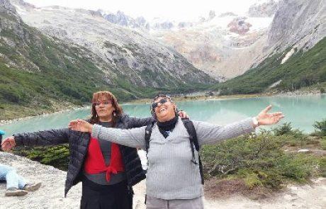 טרק חברת מועצה או רשמים מטיול בדרום אמריקה.