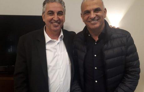 ראש העיר חיים ברוידא, נפגש עם שר האוצר משה כחלון